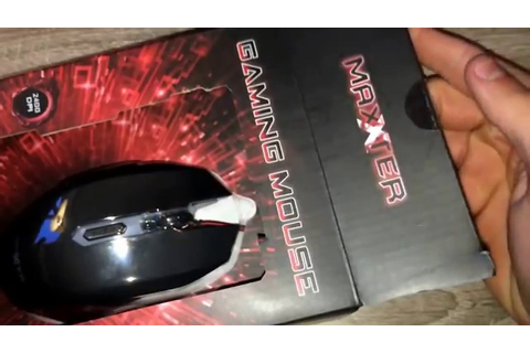 Super cheap budget red gaming mice maxter maxxter designed ...