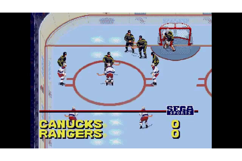 NHL All-Star Hockey 95 ... (Sega Genesis) - YouTube