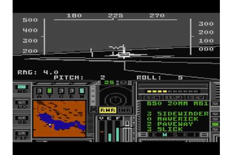 Project: Stealth Fighter (C64) 1987, MicroProse Software ...