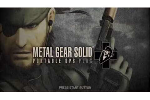Metal Gear Solid Portable Ops Plus PSP ISO - Download Game ...