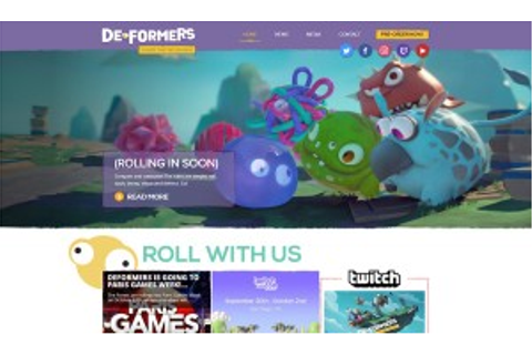Video Game Website Design | Deformers Game