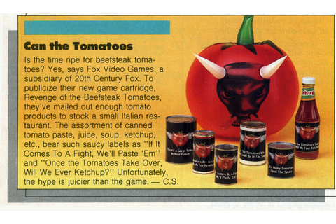Atari 2600 VCS Revenge of the Beefsteak Tomatoes : scans ...