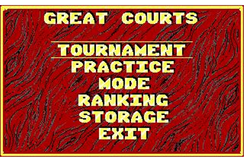 Great Courts Download (1991 Sports Game)