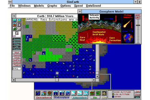 SimEarth: The Living Planet (1990) by Maxis Win3.1 game