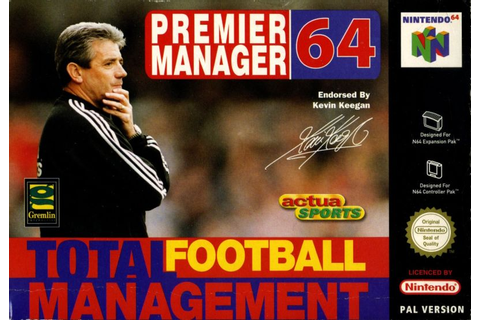 Premier Manager Ninety Nine (1999) Nintendo 64 box cover ...