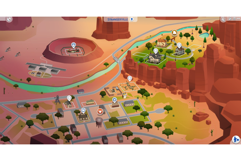 The Sims 4 world: StrangerVille list of lots and houses