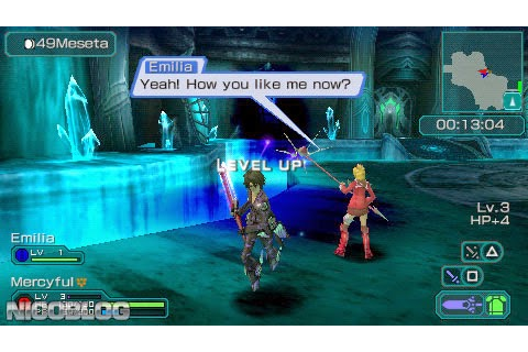 Phantasy Star Portable 2 USA [ISO] [PSP Game] | Androfairy