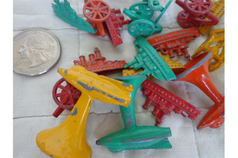 Vintage Toy Game Pieces Metal Board Game Conflict