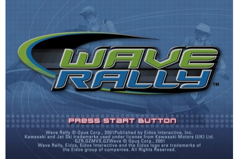 Wave Rally (2001) by Opus PS2 game