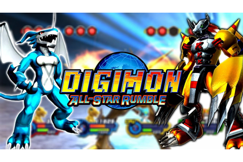 DIGIMON ALL STAR RUMBLE Veemon ExVeemon VS Agumon ...