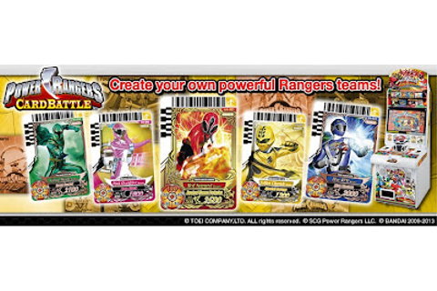 Irsyad's Way: Power Rangers CardBattle Game Machines Revealed!