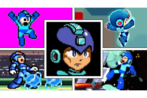 EVOLUTION OF MEGA MAN DEATHS & GAME OVER SCREENS (1987 ...