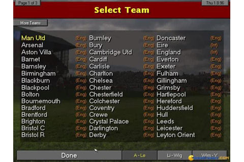 Championship Manager 96/97 (1996) - PC Game