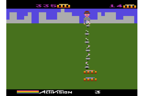 Game review: Activision's Kaboom! for #Atari 5200 | Not a ...