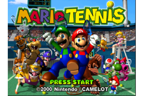 Mario Tennis (USA) Title Screen