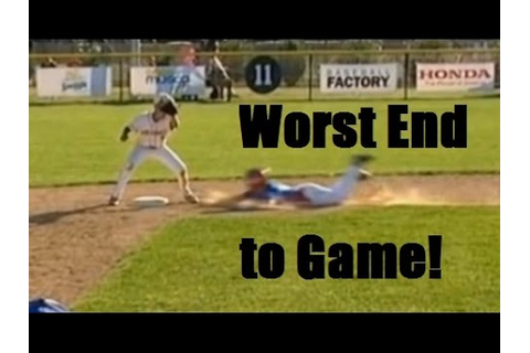 Worst baseball game ending. Little League world series ...
