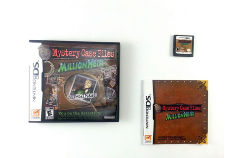 Mystery Case Files MillionHeir game for Nintendo DS ...