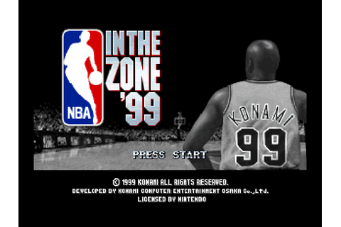 NBA in the Zone '99 (1999) by Konami OSA N64 game