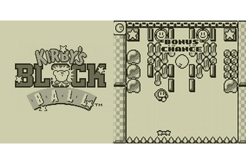 Kirby's Block Ball | Virtual Console (Nintendo 3DS ...
