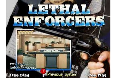 Lethal Enforcers (Arcade) - YouTube