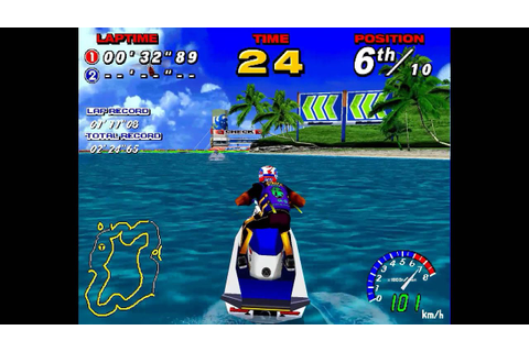 WaveRunner (Sega Model 2, 1996) Gameplay - YouTube