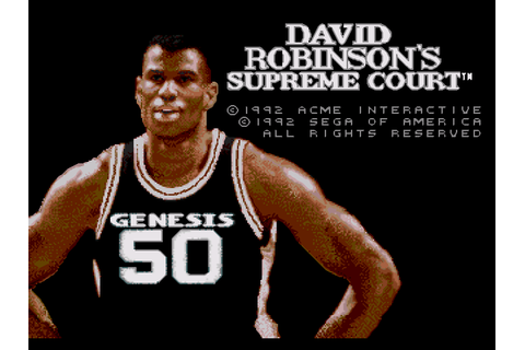 David Robinson's Supreme Court Screenshots | GameFabrique