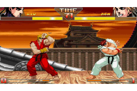 Street Fighter HD Mugen - Ryu vs Ken Gameplay Footage ...