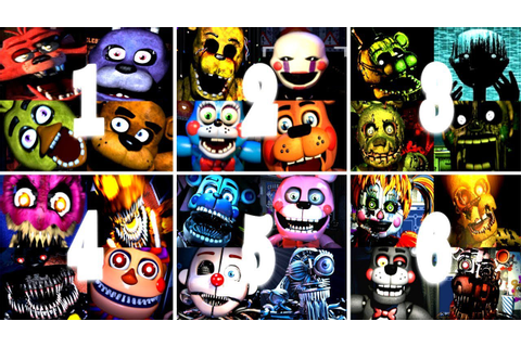 Five Nights At Freddy's 1 2 3 4 5 6 All Jumpscares ...
