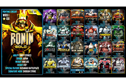 Real Steel WRB MEGA BATTLE RONIN GOLD VS ALL VIP PHASE ...