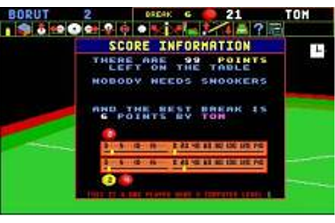 Jimmy White's Whirlwind Snooker Download (1991 Sports Game)