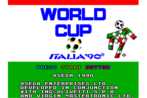 Play World Cup Italia '90 Sega Master System online | Play ...