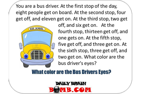 What Color Are the bus Drivers Eyes [Click Photo to get ...