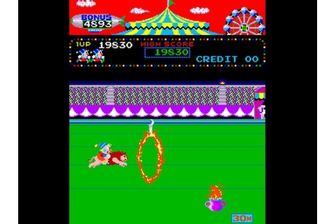 Arcade Game: Circus Charlie (1984 Konami) - YouTube