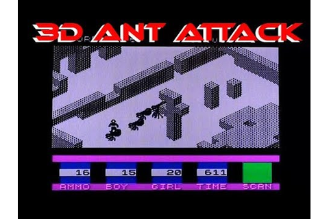 3D Ant Attack on the 48k Sinclair ZX Spectrum - gameplay ...
