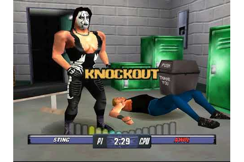 WCW Backstage Assault PS1 - U.S. title with Sting - YouTube
