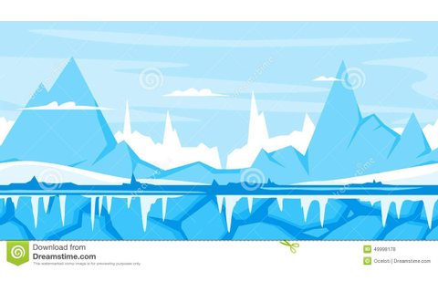 Winter Mountain Game Background Stock Vector - Image: 49998178