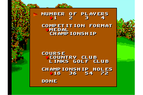 Sega World Tournament Golf Screenshots for SEGA Master ...