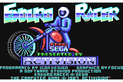 Enduro Racer (1987) by Icon Design / Software Studios C64 game