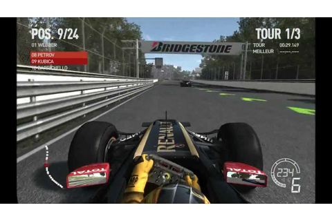 F1 2010 GAME LOTUS RENAULT HD - YouTube