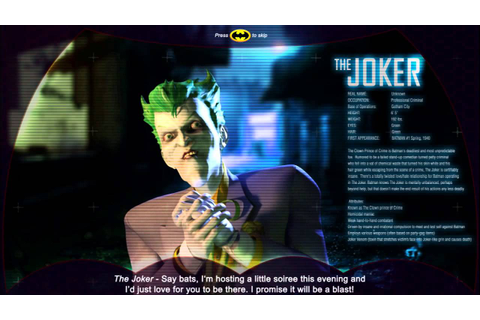 Batman - Joker Stage Intro - Specular Games - New Arcade ...