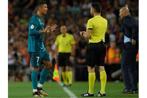 Cristiano Ronaldo faces 12-game ban for pushing referee ...