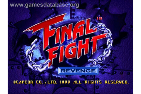 Final Fight Revenge - Sega Saturn - Games Database