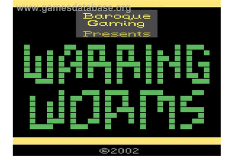 Warring Worms - Atari 2600 - Games Database