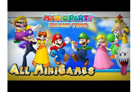 Mario Party Island Tour - All Mini-Games - YouTube