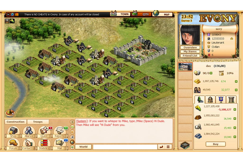 Evony Free MMO Strategy Game, Cheats & Review ...