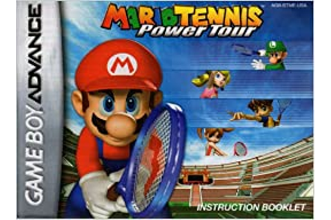 Mario Tennis Power Tour GBA Instruction Booklet (Game Boy ...