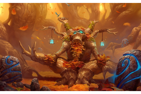 video games nature trees world of warcraft forest orange ...