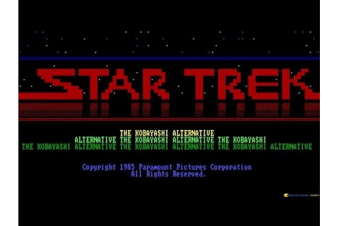 Star Trek - The Kobayashi Alternative - 1985 PC Game ...