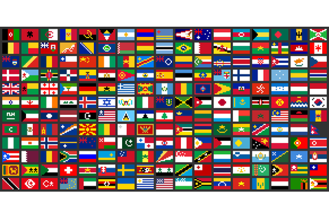 Pixel flags of the world, for an 8-bit Olympics game ...