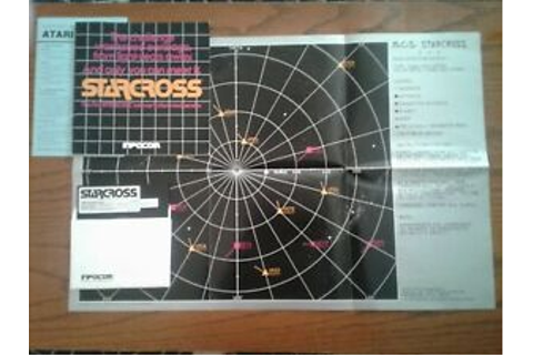 Atari 400/800 Starcross Floppy Disc Space Game W/copy | eBay